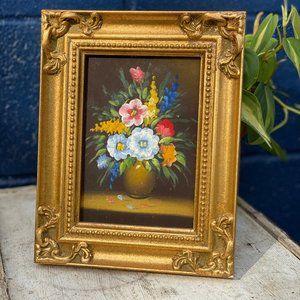 Vintage Original Still Life Floral Painting